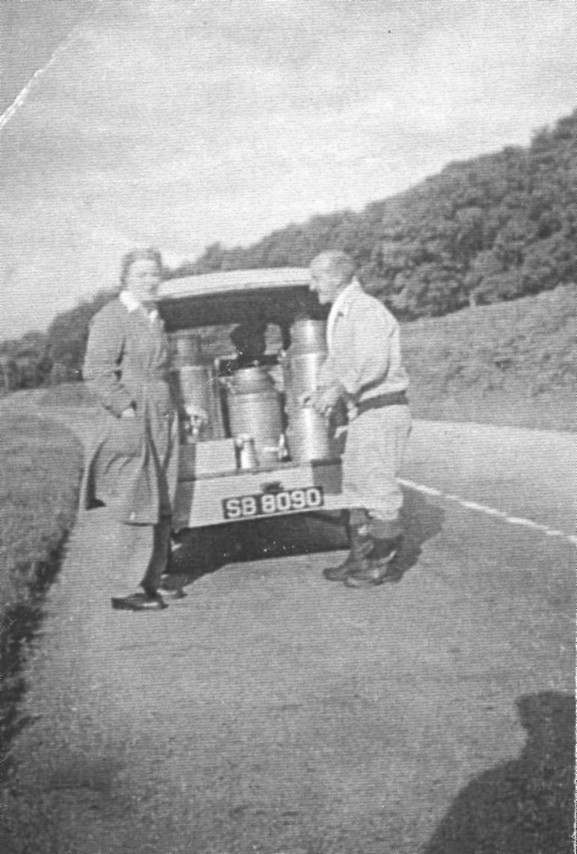 Betty Lang delivering milk