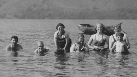 Bathing at Tighcladich, late 1940s