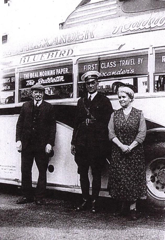 Tommy Jones, coach driver and Agnes Jones