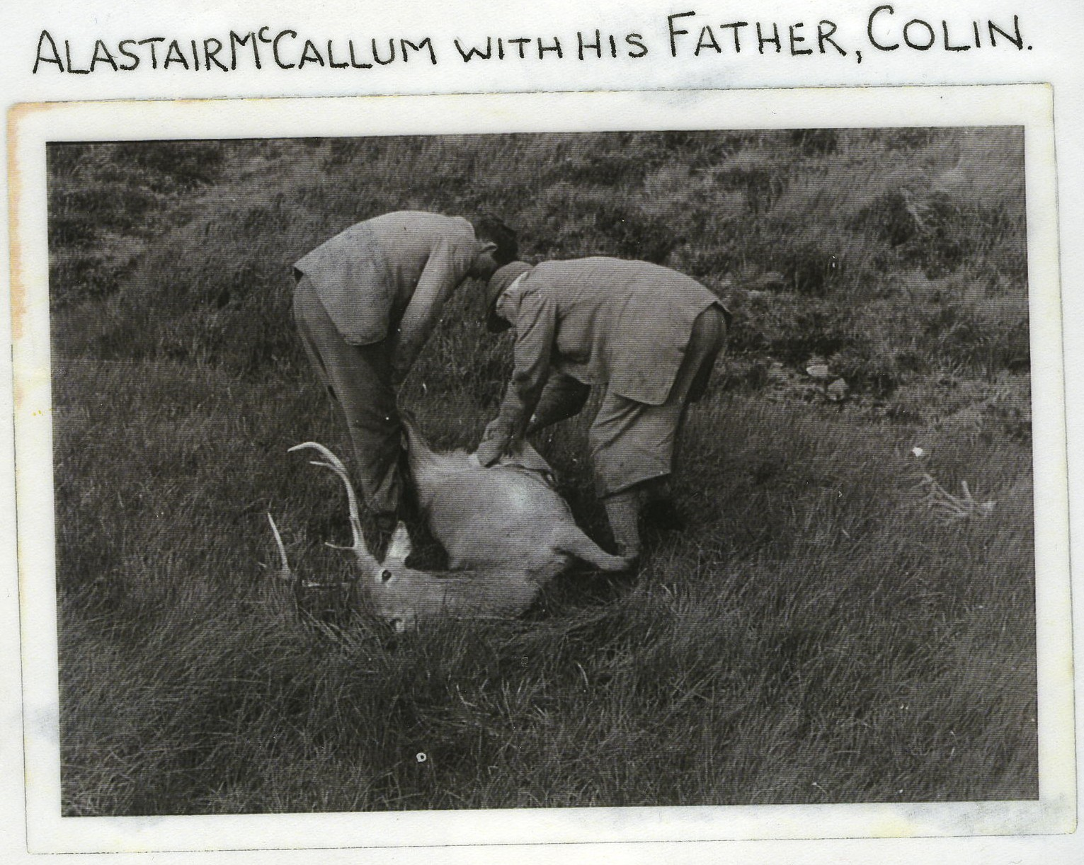 Alistair MacCallum with his father, Colin